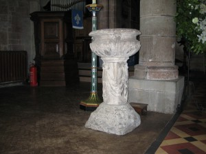 Ross on Wye - Herefordshire - St. Mary - old font