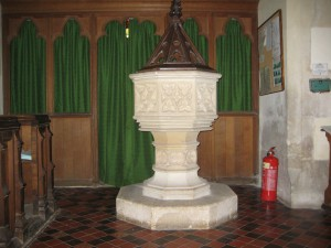 Staunton on Arrow - Herefordshire - St. Peter - font
