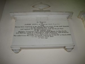 Staunton on Arrow - Herefordshire - St. Peter - memorial plaque