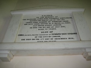Staunton on Arrow - Herefordshire - St. Peter - memorial plaque 4