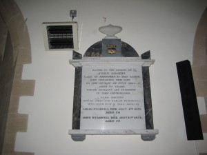 Stoke Lacy - Herefordshire - St. Peter & St. Paul - memorial plaque