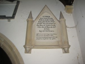 Stoke Prior - Herefordshire - St. Luke - memorial plaque