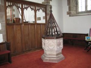 Stretton Grandison - Herefordshore - St. Lawrence - font