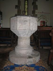 ullingswick - Herefordshire - St. Luke - font