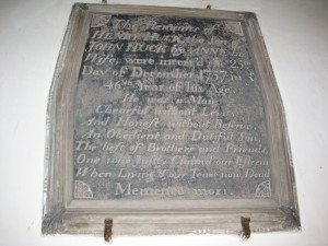 Upper Sapey - Herefordshire - St. Michael - memorial plaque 2