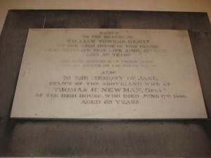 Upper Sapey - Herefordshire - St. Michael - memorial plaque 3