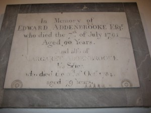 Upper Sapey - Herefordshire - St. Michael - memorial plaque