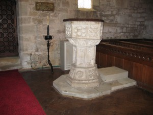 Walford - Herefordshire - St. Michael & All Angels - font