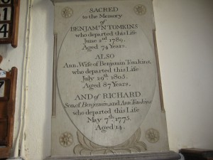 Wellington - Herefordshire - St. Margaret - memorial plaque