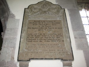 Wellington - Herefordshire - St. Margaret - memorial plaque 4