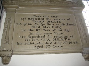 Wellington - Herefordshire - St. Margaret - memorial plaque 5