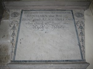 Wellington - Herefordshire - St. Margaret - memorial plaque 9