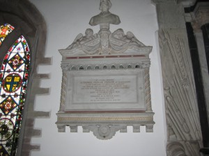 Weobley - Herefordshire - St. Peter & St. Paul - memorial Daniel Peploe