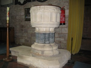 Weston Under Penyard - Herefordshire - St. Lawrence - font new