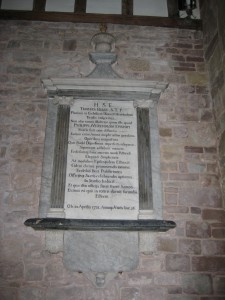 Weston Under Penyard - Herefordshire - St. Lawrence - memorial plaque 4