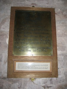 Whitbourne - Herefordshire - St. John the Baptist - memorial plaque 2