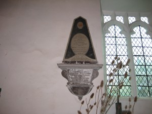 Withington - Herefordshire - St. Peter - memorial plaque 2