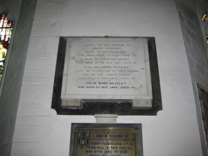 Withington - Herefordshire - St. Peter - memorial plaque